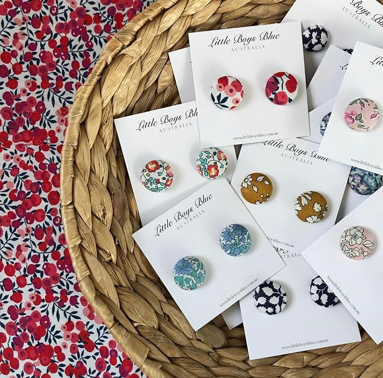 Image of Liberty fabric stud earrings