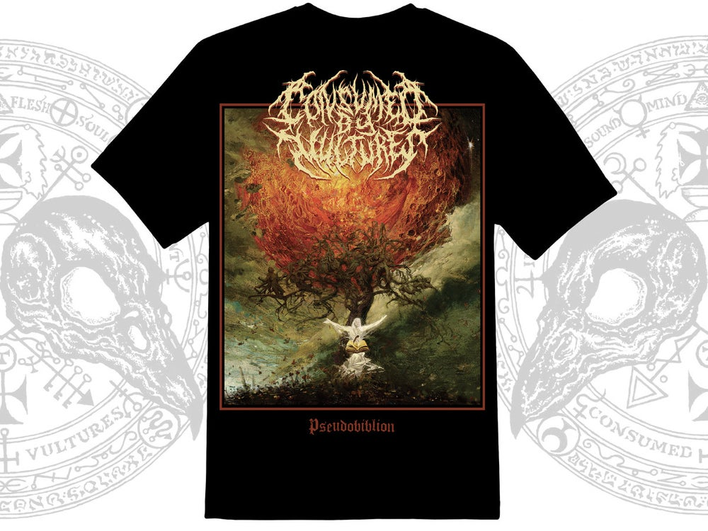 Image of CONSUMED BY VULTURES - Pseudobiblion T-Shirt