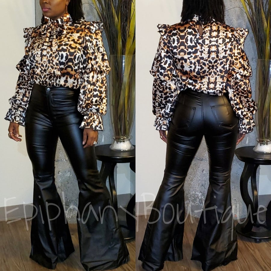 Image of The Lia Blouse & The Leather Bell Bottoms-**Separates**