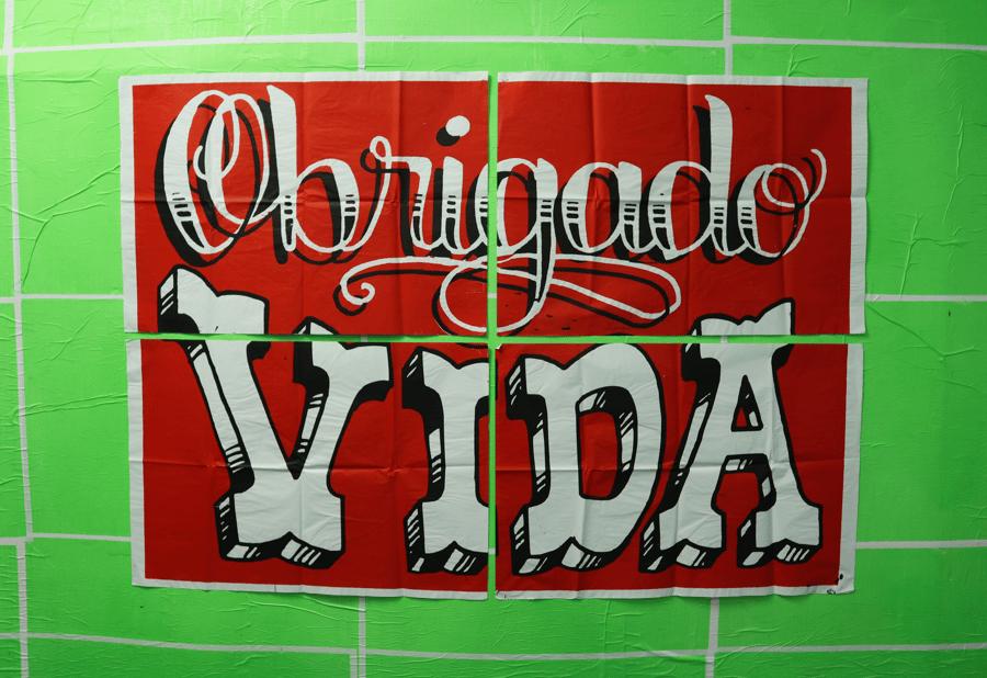 Image of Poster OBRIGADO VIDA 4 folhas - 192x132cm