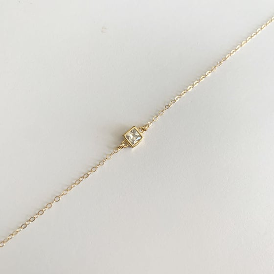 Image of Gold Fill Square Necklace