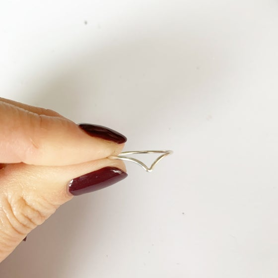 Image of Sterling silver chevron