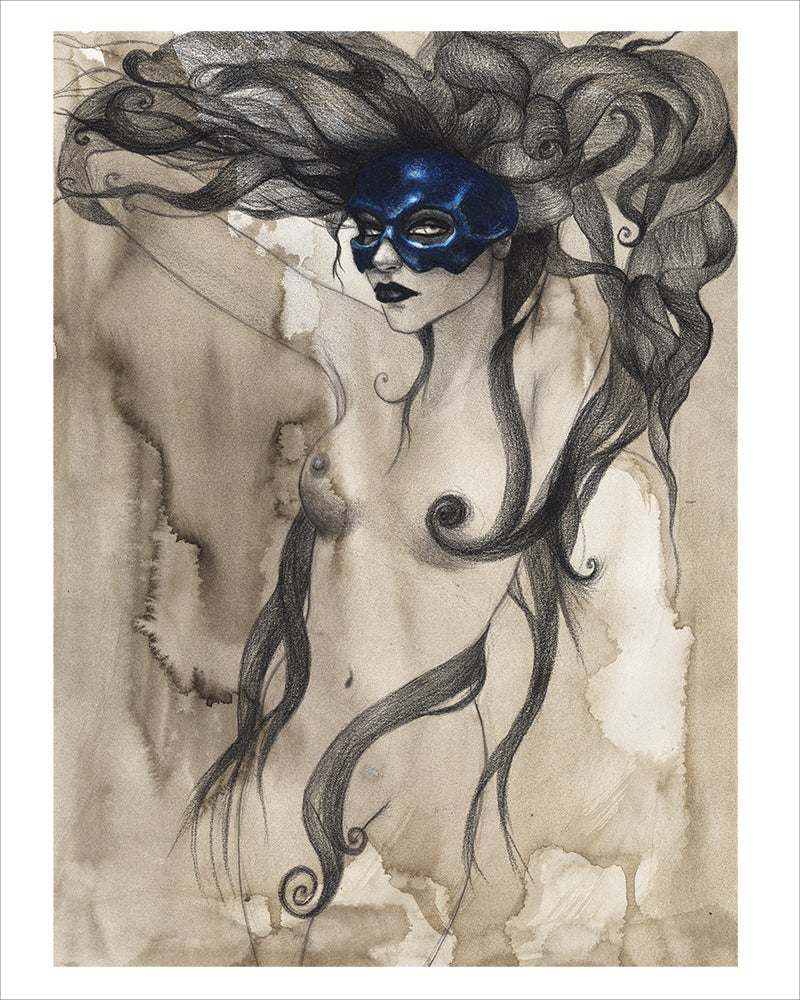 """Image of """"Black Lips"""" Limited edition print"""