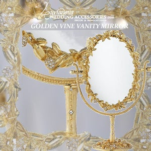 Image of Golden Vine Vanity Mirror