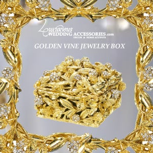 Image of Golden Vine Jewelry Box