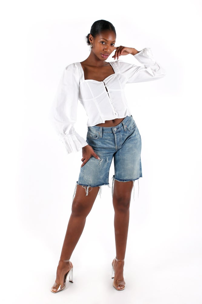 Image of 'Roma' Fringed Shorts