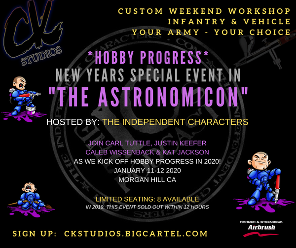 Image of SPECIAL EVENT: 'Hobby Progress' New Years Event in the ASTRONOMICON, Jan 2020