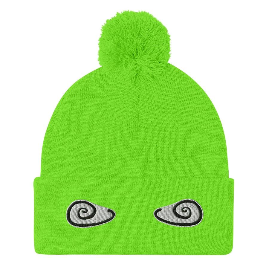 Image of Pom-Pom Beanie Neon Green
