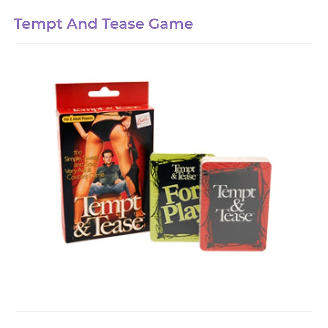 Image of Tempt and Tease card Game