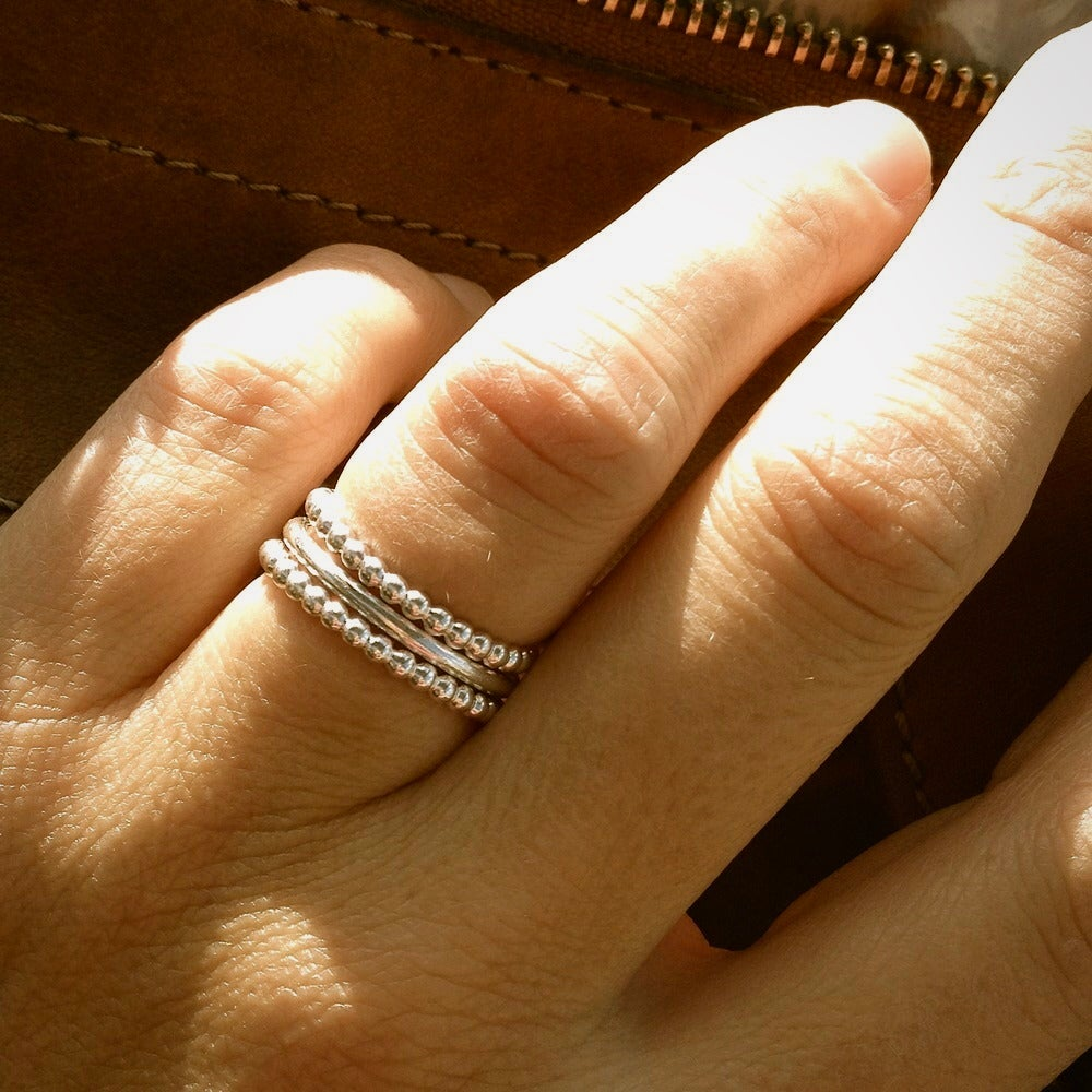Image of Bubbly silver ring