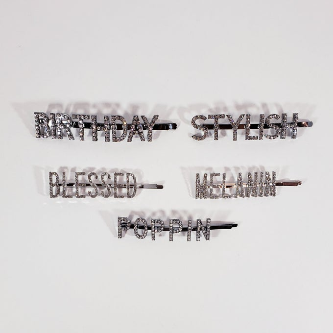 Image of Worded Hair Pins*