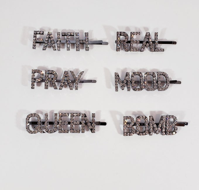 Image of Worded Hair Pins