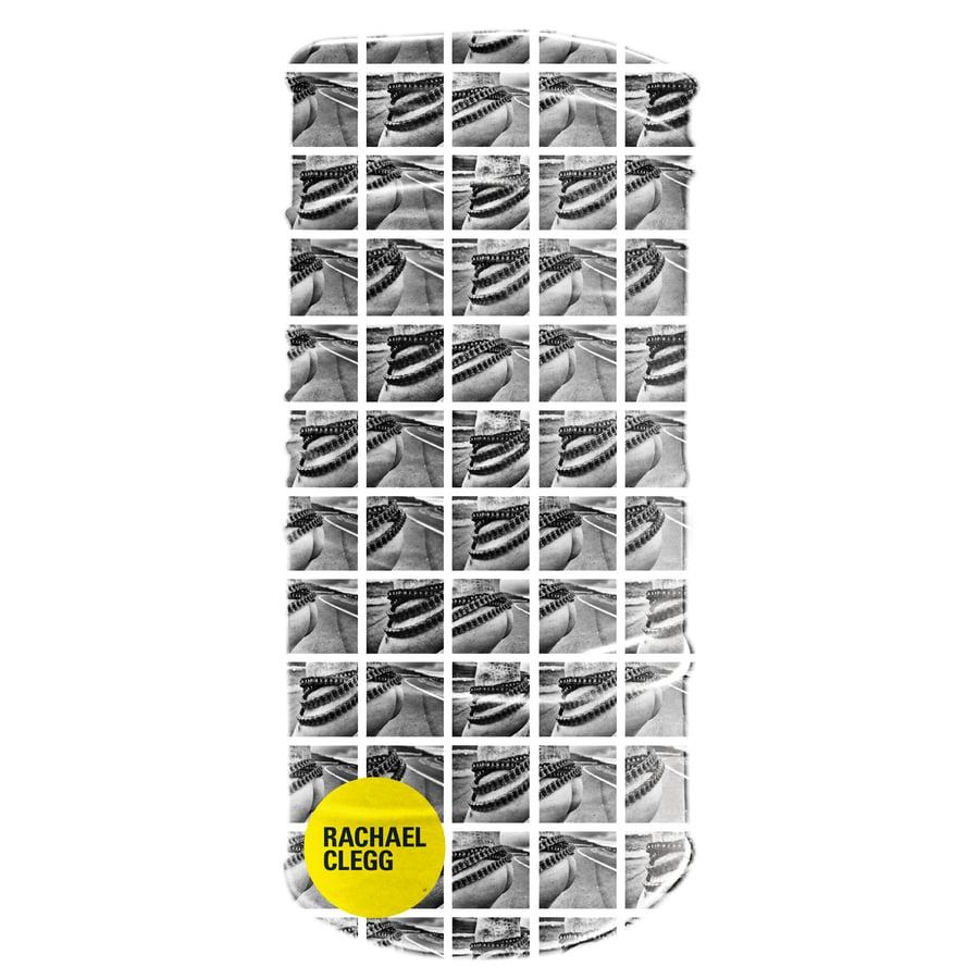 Image of Rachael Clegg neck tube: Windy Corner  - black and white