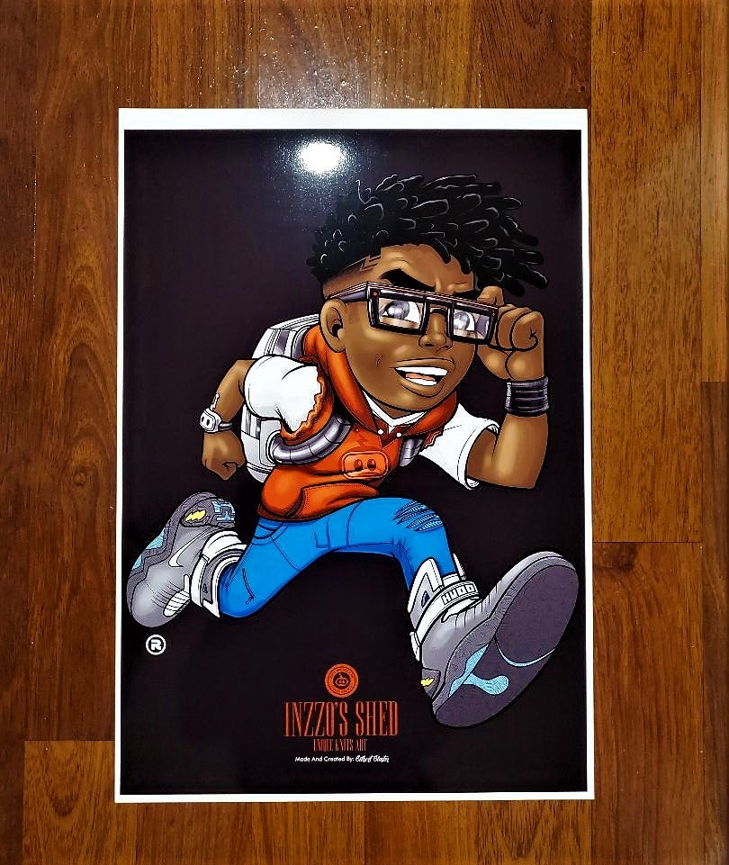 Image of Running Inzzo 13x19 Poster