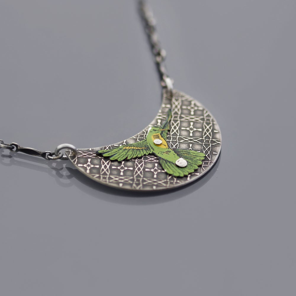 Image of Sterling Silver Hummingbird Matrix Necklace