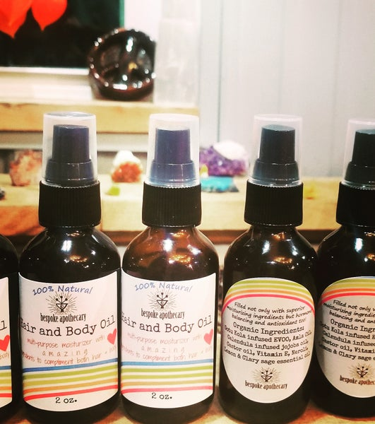 Image of 2 oz. Herbal HAIR & BODY oil 🌈❤