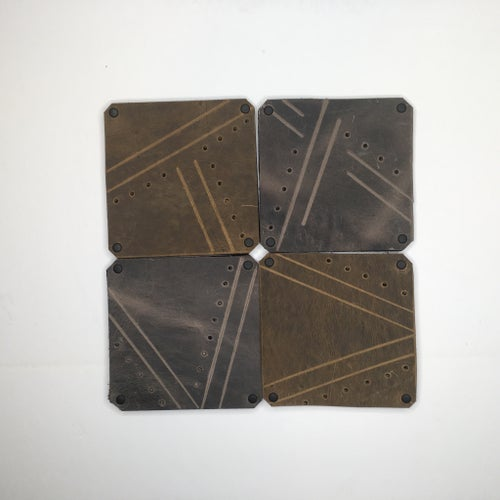 Image of Hand-Patterned Coasters (Set of 4)