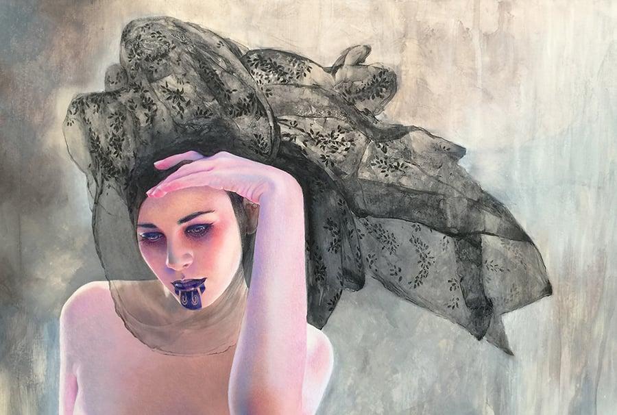 "Image of ""Black Melt"" Original painting"
