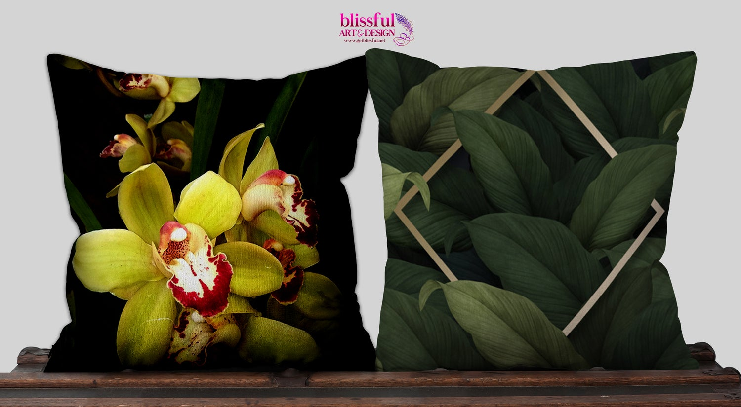 Image of Orchid en Chartreuse ( Pillow )