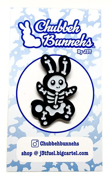 Image of Skelebunneh Enamal Pin