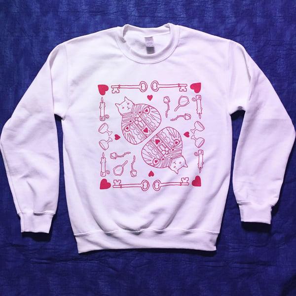 Image of Hearts Cat - Handkerchiefs, Tees & Sweatshirts