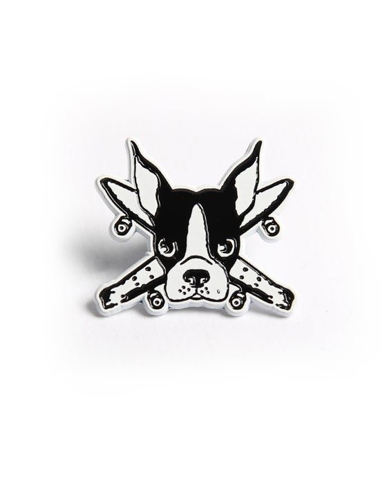 """Image of Spike pirate 1""""  white pin"""