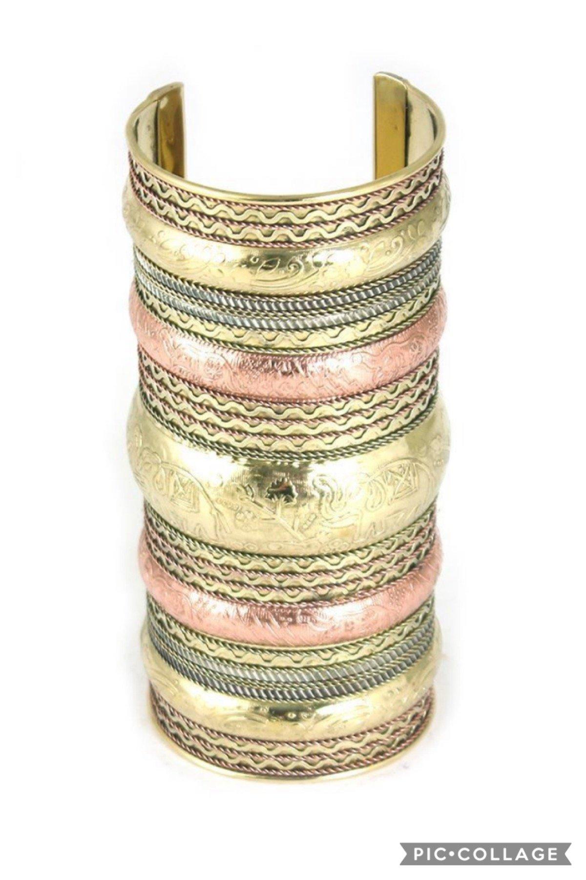 Image of Elephant Cuff: Copper/Brass