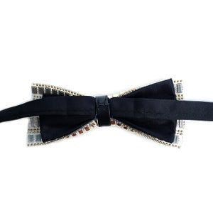 Image of 🔥Gold Beads & Silver Stones Men's Bow Tie🔥