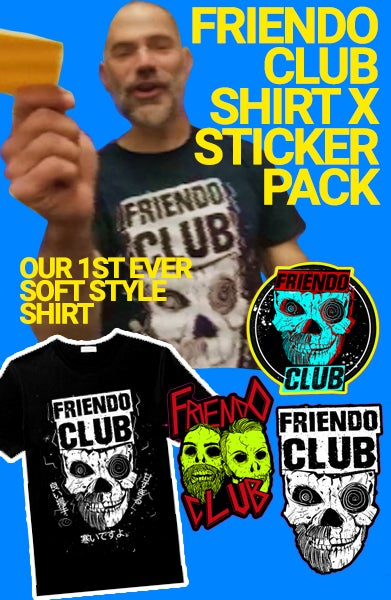 Image of FRIENDO CLUB SHIRT X STICKER PACK
