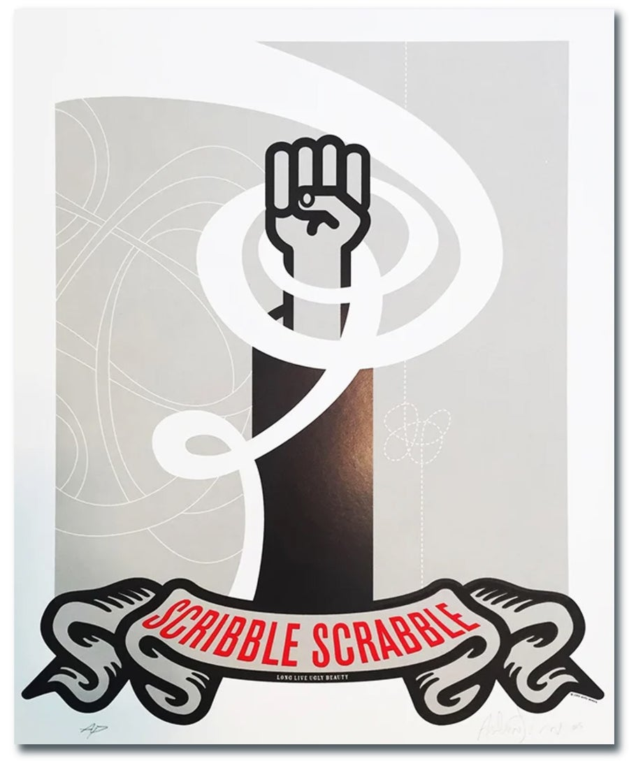 "Image of ""Scribble Scrabble"" Beautiful Losers Print"
