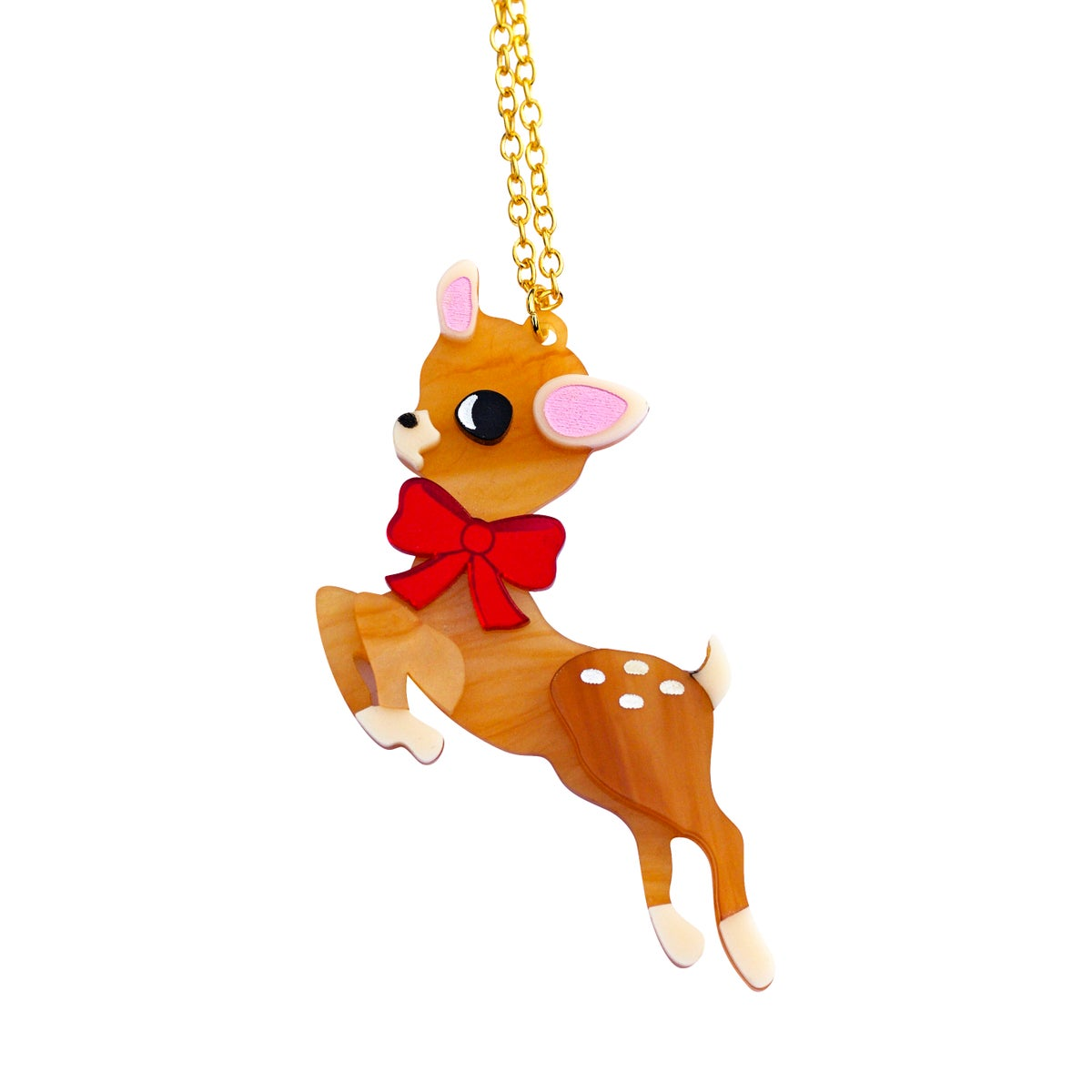 Image of Retro Deer Pendant Necklace