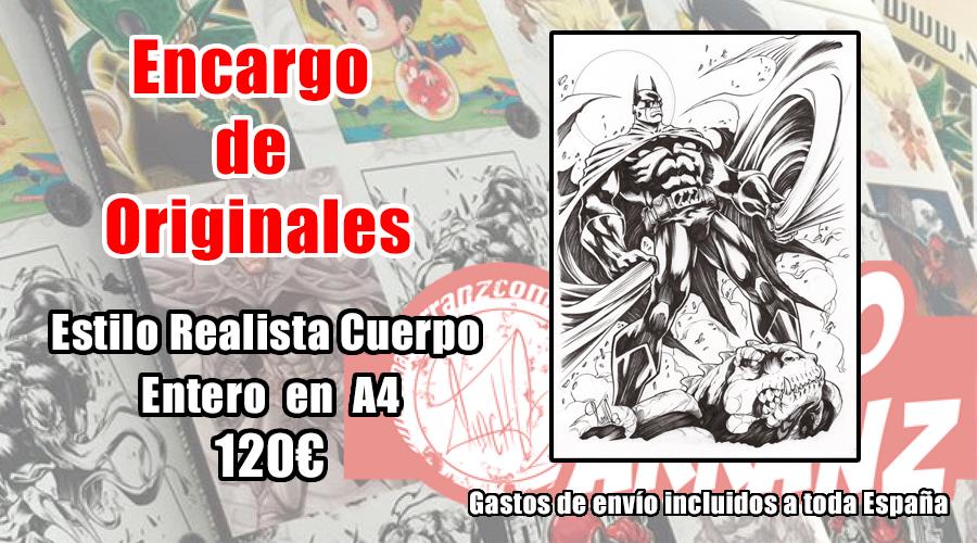 Image of Encargo Original A4 o A3 a tinta o lápiz quemado. Cuerpo entero.