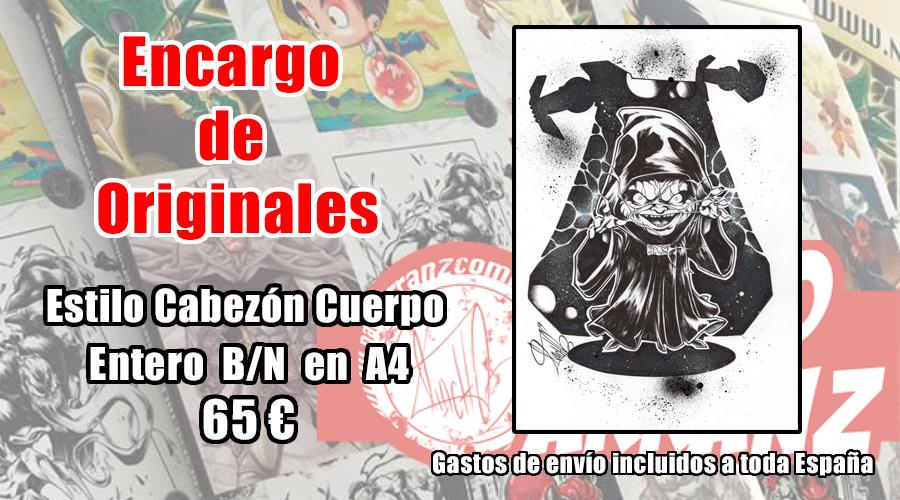 Image of Encargo Original estilo cabezón A4 o A3. Cuerpo entero.