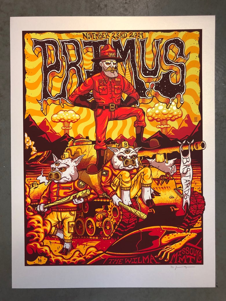 Image of Primus - November 23rd 2019 - Missoula, MT - Artist Edition