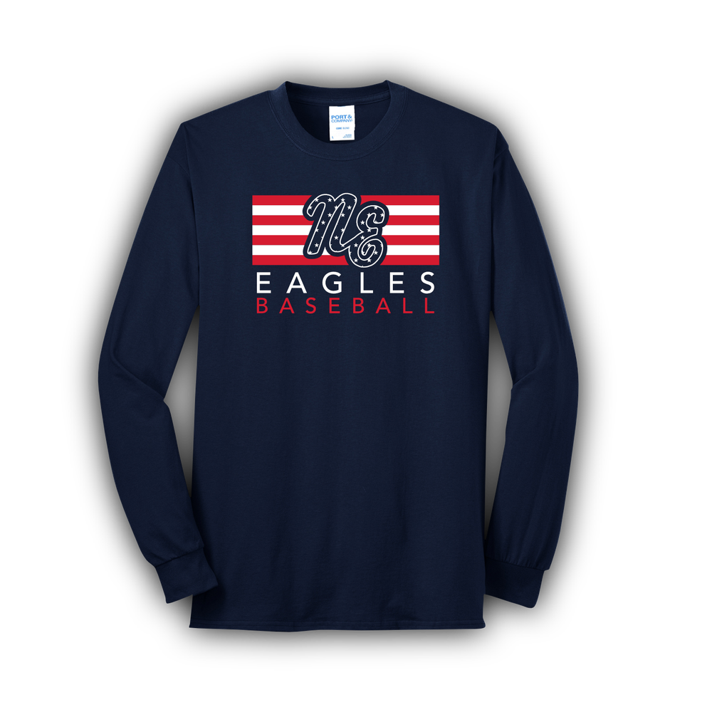 Image of Youth Eagles Flag Long Sleeve Tee