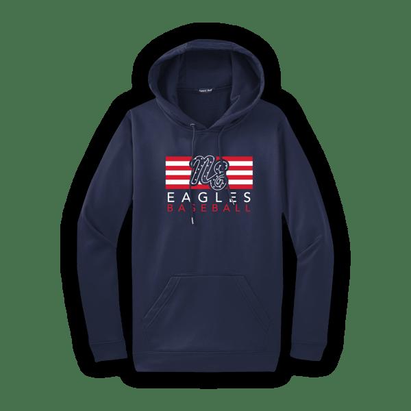 Image of Adult Eagles Flag Hoodie