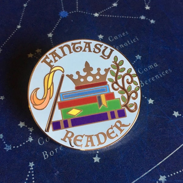 Image of Fantasy Reader Pin