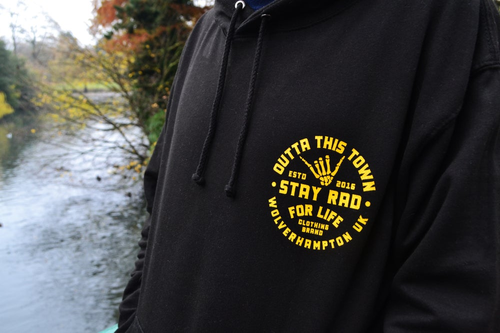 Image of Stay Rad For Life Hoodie Black