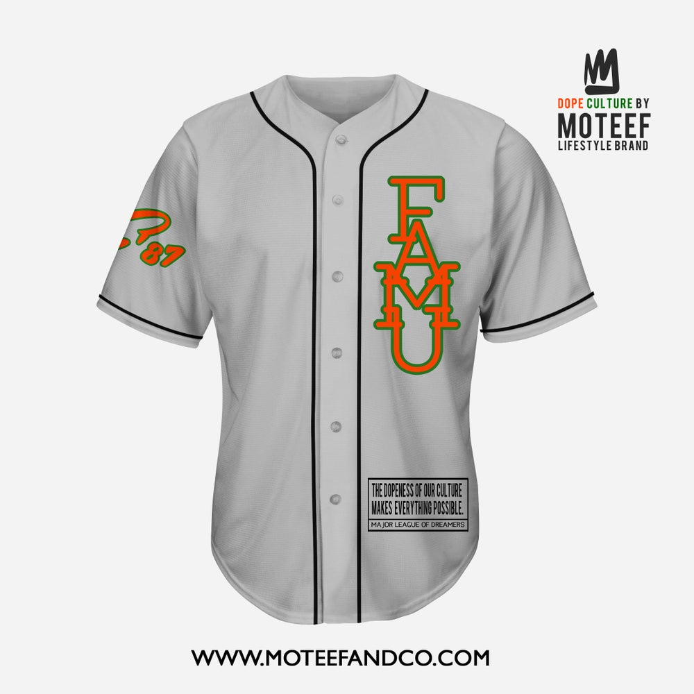 Image of FAMU State Of Mind Baseball Jersey GREY