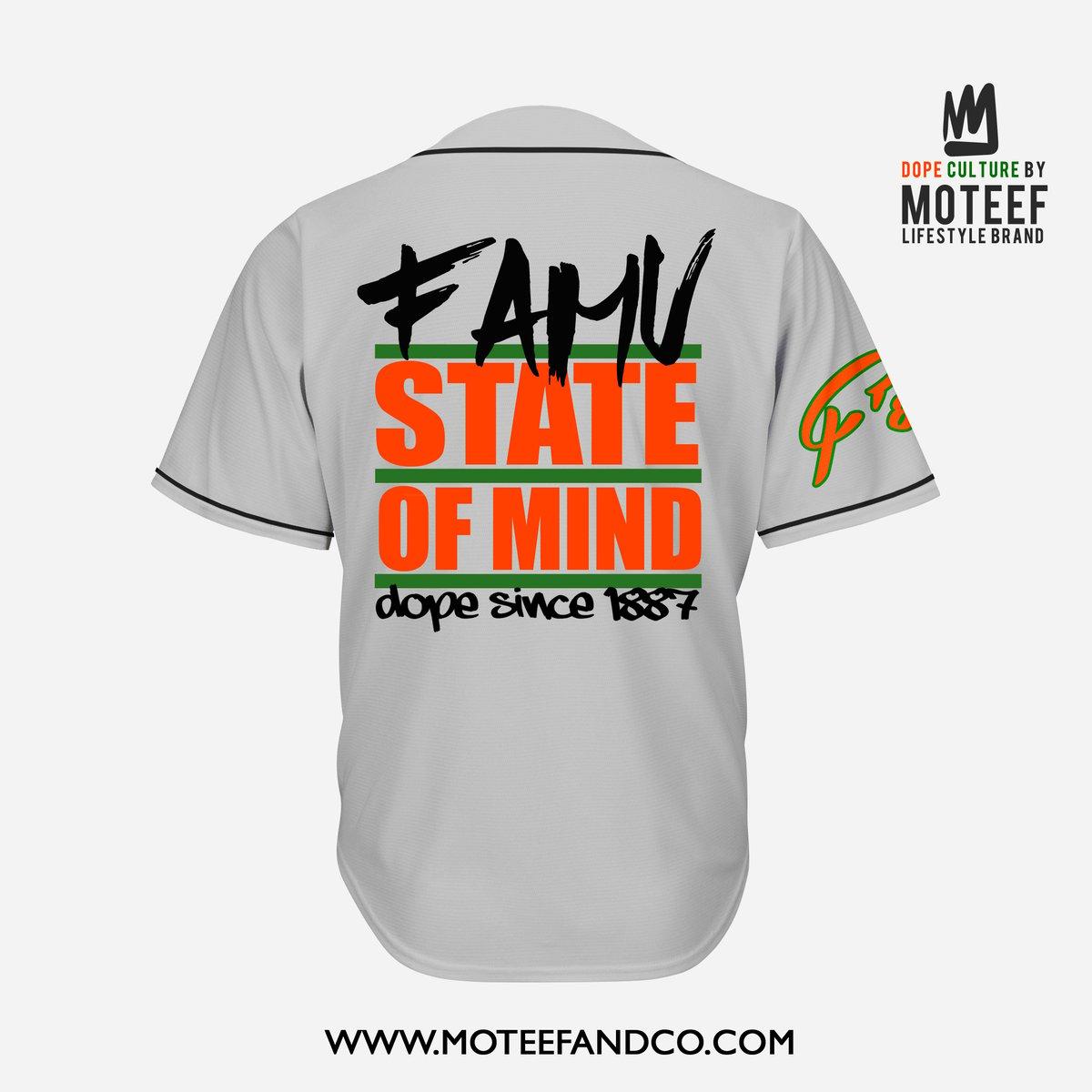 Image of FAMU State Of Mind Baseball Jersey GREY