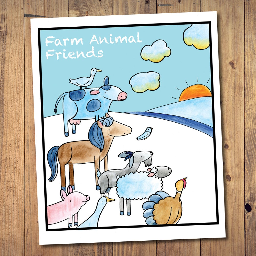 Image of Farm Animal Friends Coloring Book