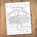 Image 1 of Piedmont Farm Animal Refuge Coloring Book