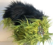 Image of Black & Grinch Green Santa Hat