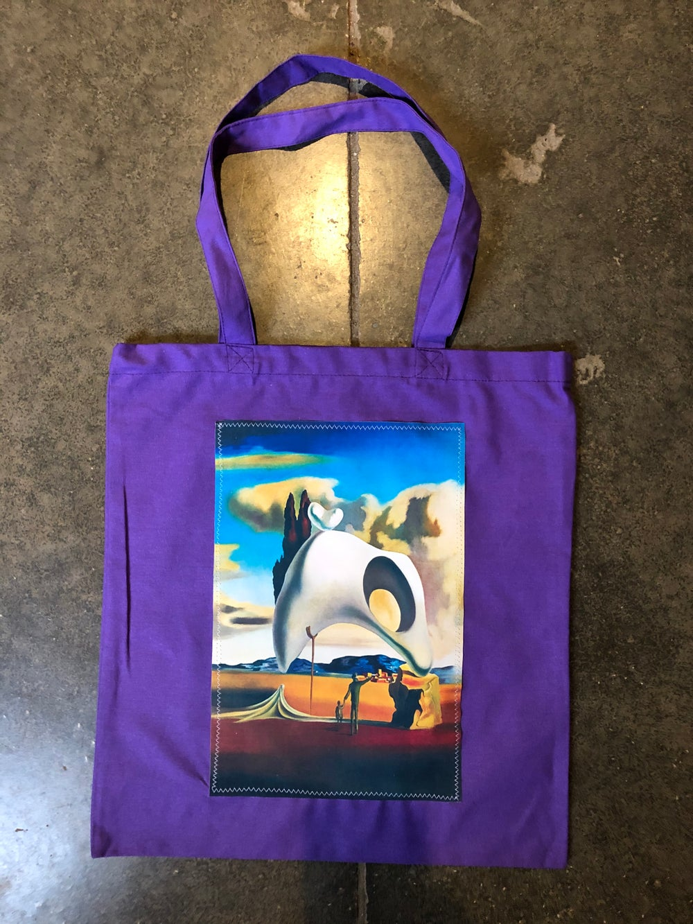 Canvas totes w/ silk patch (group 1)