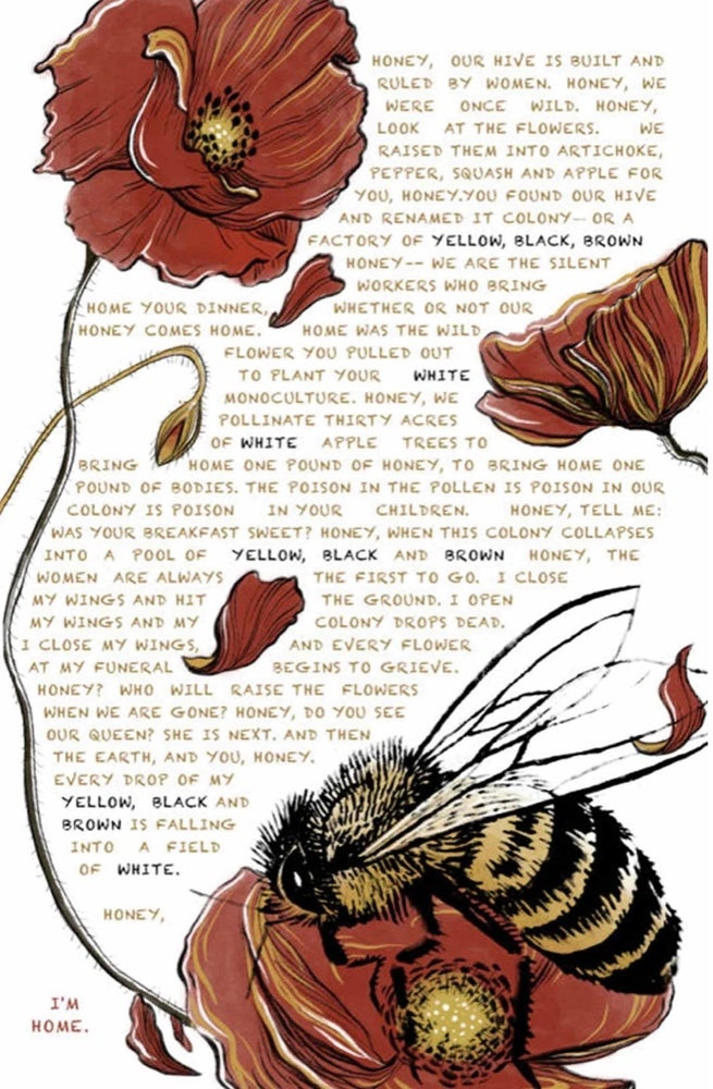 Image of the honey bees by Jess X Snow