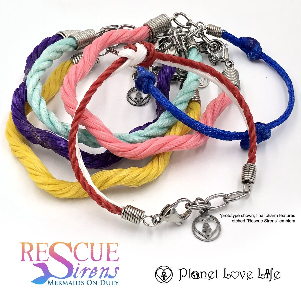Image of Rescue Sirens x Planet Love Life Ghost Net Bracelets
