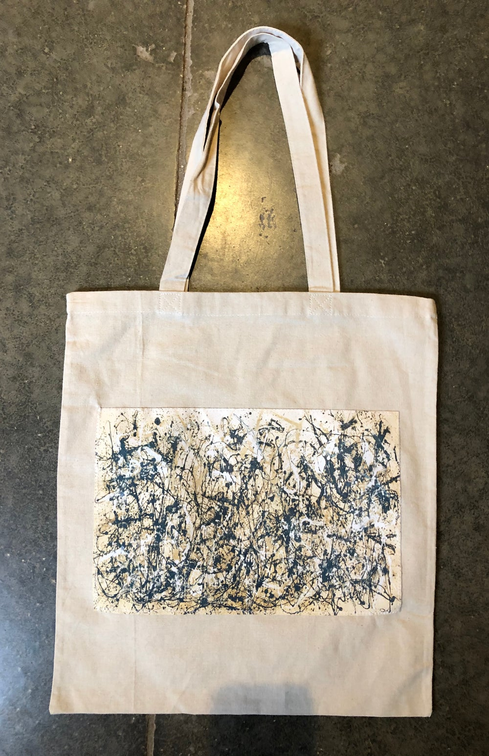 Canvas totes w/silk patch (group 3)