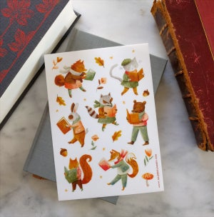 Image of Reading Animal Stickers