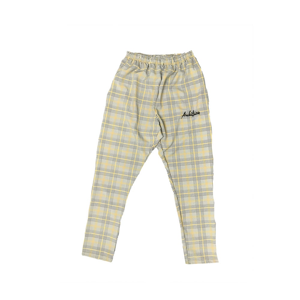 Image of Plaid pants script ylw