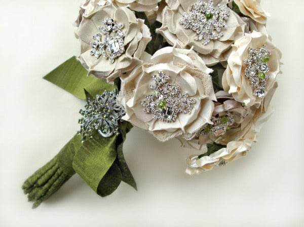 Image of Silk Flower Bridal Bouquet